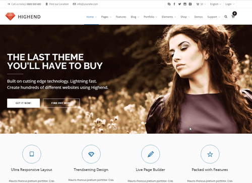 Highend WordPress Theme