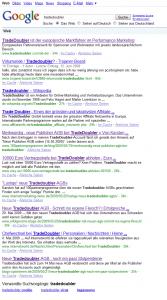"""Google Suchergebnisse für """"Tradedoubler"""""""