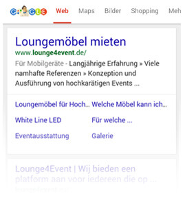 Mobile-friendly-Label bei Google....