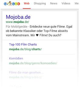 Für Mobilgeräte Label bei Google