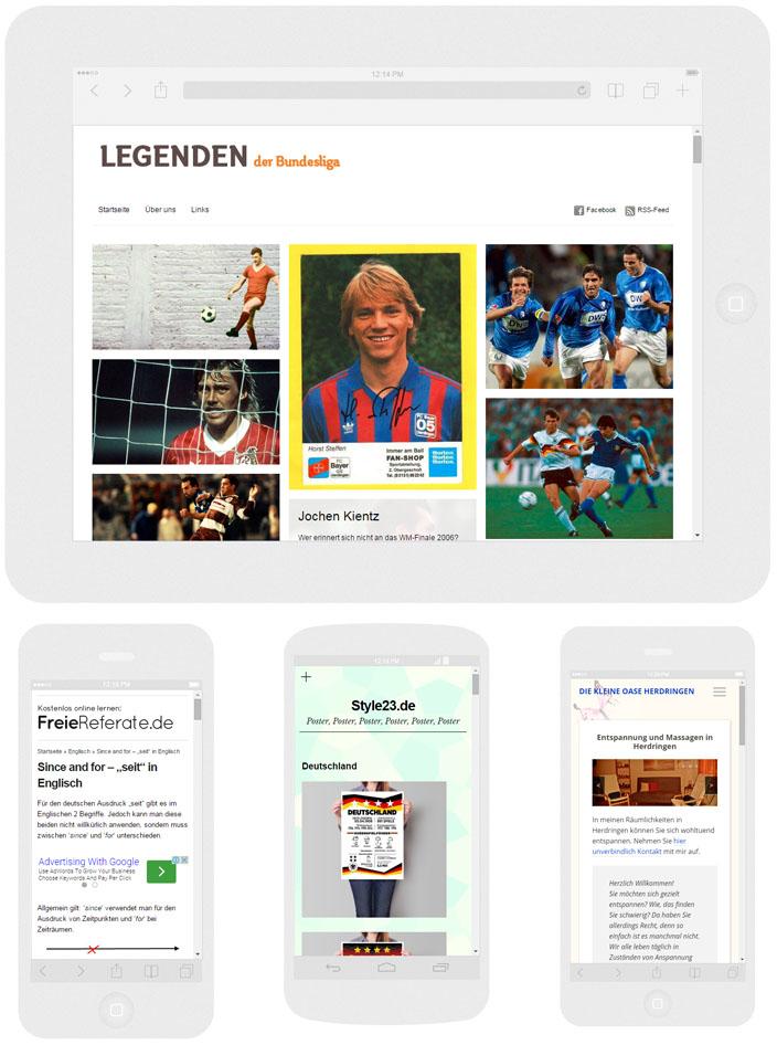 Beispiele für Homepage mit WordPress erstellt